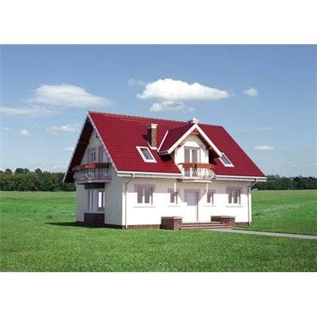 Proiecte Case - Proiect Casă de Vis, cu Mansardă, 199 mp, 2 Camere, 2 Băi, ID 3634