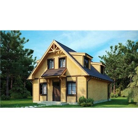 Proiecte Case - Proiect Casă Mică, cu Mansardă, 140 mp, 4 Camere, 2 Băi, ID 6702