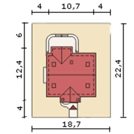 Proiecte Case - Proiect Casă Mică, cu Mansardă, 124 mp, 6 Camere, 3 Băi, ID 3513