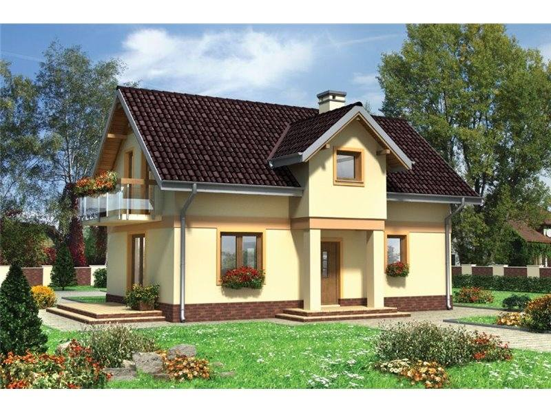 Proiecte Case - Proiect Casă Mică, cu Mansardă, 141 mp, 4 Camere, 2 Băi, ID 3478