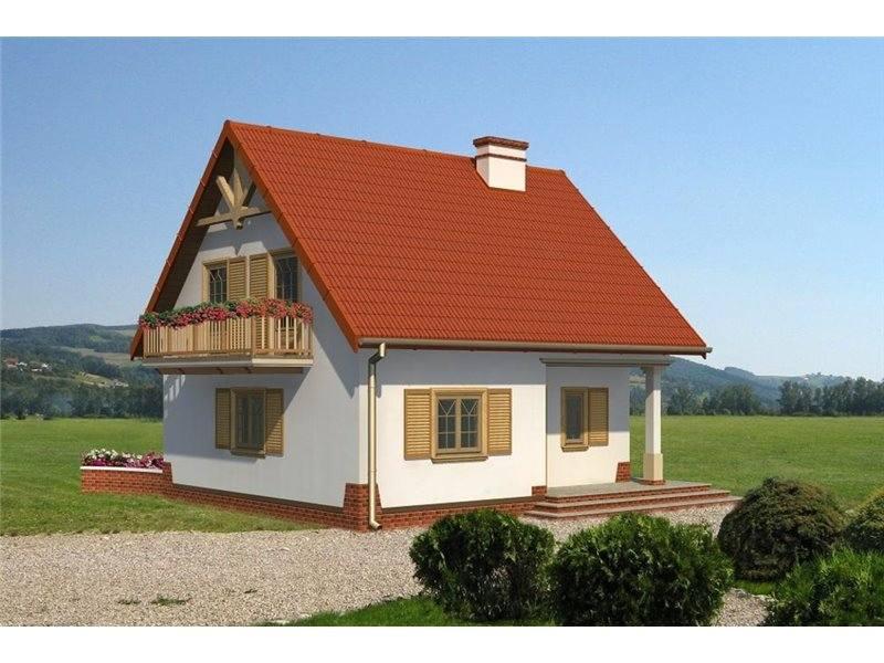 Proiecte Case - Proiect Casă Mică, cu Mansardă, 130 mp, 4 Camere, 2 Băi, ID 3387
