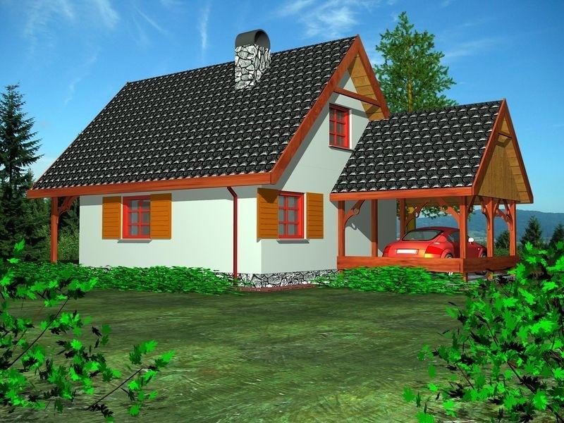 Proiecte Case - Proiect Casă Mică, cu Mansardă, 139 mp, 3 Camere, 1 Băi, ID 6681