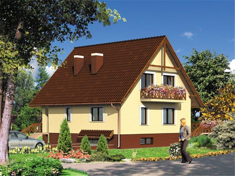 Proiecte Case - Proiect Casă de Lux, cu Mansardă, 200 mp, 5 Camere, 2 Băi, ID 3290