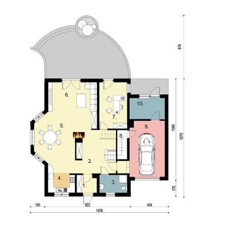 Proiecte Case - Proiect Casă Mică, cu Mansardă, 146 mp, 5 Camere, 3 Băi, ID 3272