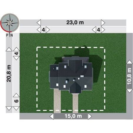 Proiecte Case - Proiect Casă de Lux, cu Mansardă, 221 mp, 7 Camere, 2 Băi, ID 3163