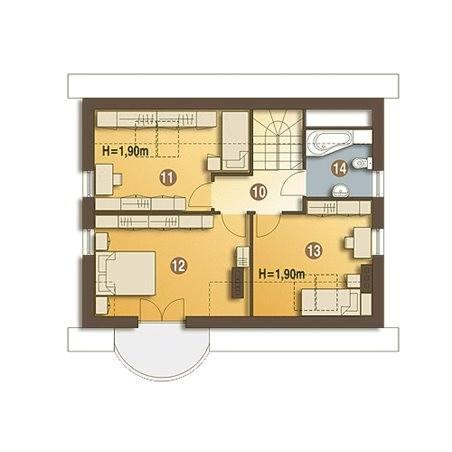 Proiecte Case - Proiect Casă Mică, cu Mansardă, 139 mp, 5 Camere, 2 Băi, ID 3155