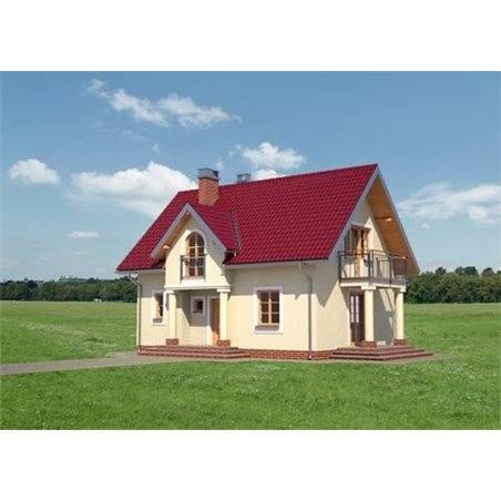 Proiecte Case - Proiect Casă Mică, cu Mansardă, 142 mp, 4 Camere, 2 Băi, ID 3147