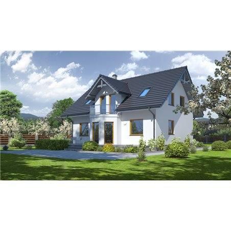 Proiecte Case - Proiect Casă de Lux, cu Mansardă, 201 mp, 6 Camere, 2 Băi, ID 3132