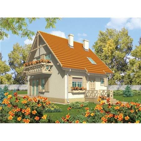 Proiecte Case - Proiect Casă Mică, cu Mansardă, 139 mp, 5 Camere, 2 Băi, ID 6648