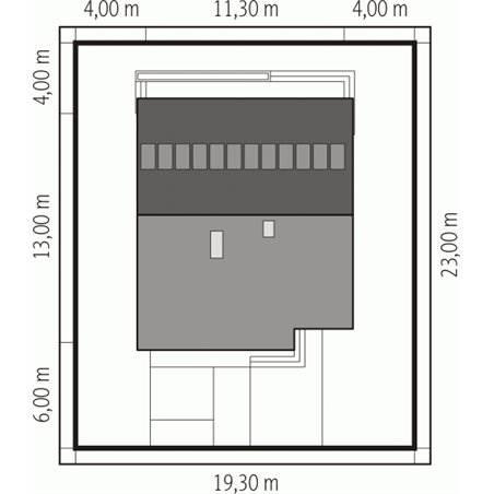 Proiecte Case - Proiect Casă Mică, Parter, 130 mp, 3 Camere, 2 Băi, ID 3090