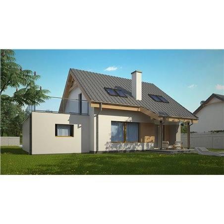 Proiecte Case - Proiect Casă de Lux, cu Mansardă, 200 mp, 4 Camere, 2 Băi, ID 3074
