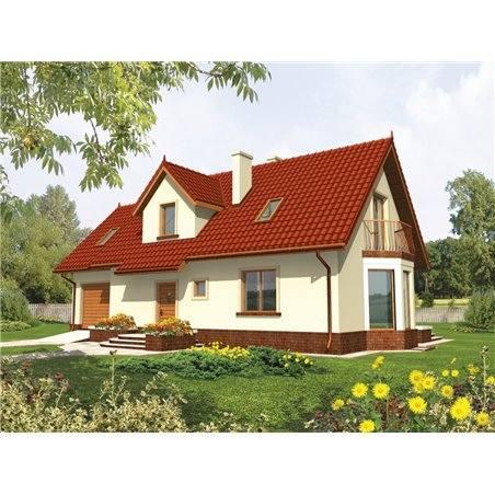 Proiecte Case - Proiect Casă de Lux, cu Mansardă, 200 mp, 5 Camere, 2 Băi, ID 3040