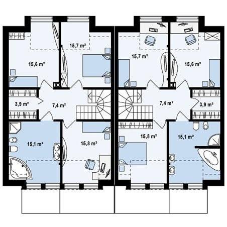 Proiecte Case - Proiect Casă de Lux, cu Etaj, 218 mp, 8 Camere, 4 Băi, ID 7350