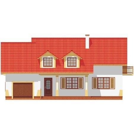 Proiecte Case - Proiect Casă de Lux, cu Mansardă, 200 mp, 5 Camere, 2 Băi, ID 2906