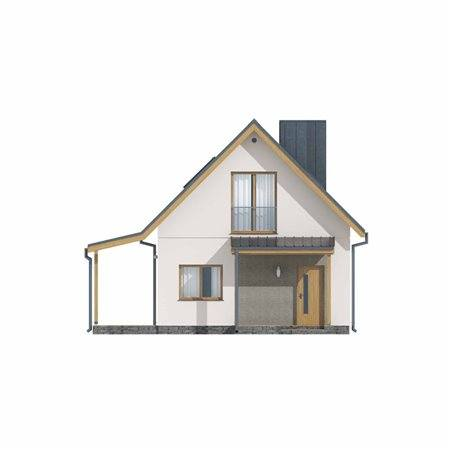 Proiecte Case - Proiect Casă Mică, cu Mansardă, 146 mp, 5 Camere, 2 Băi, ID 2896