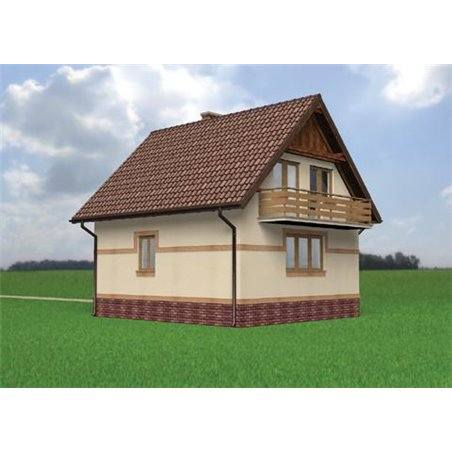 Proiecte Case - Proiect Casă Mică, cu Mansardă, 141 mp, 4 Camere, 2 Băi, ID 2863