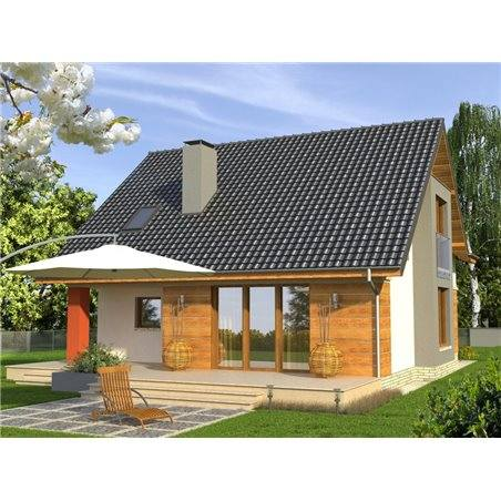 Proiecte Case - Proiect Casă de Lux, cu Mansardă, 200 mp, 5 Camere, 2 Băi, ID 2854
