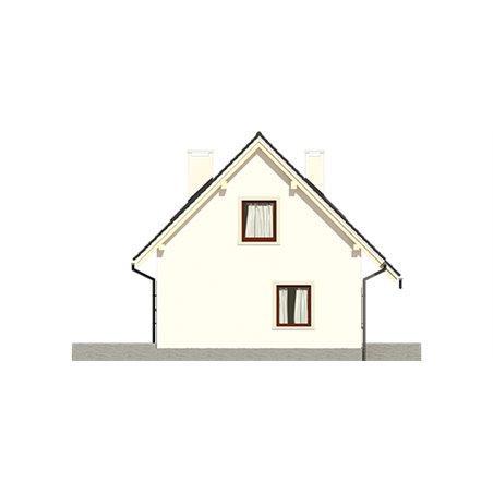 Proiecte Case - Proiect Casă Mică, cu Mansardă, 140 mp, 4 Camere, 2 Băi, ID 7083