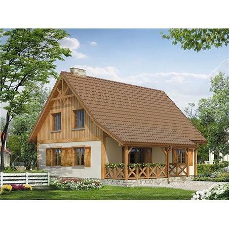 Proiecte Case - Proiect Casă de Lux, cu Mansardă, 200 mp, 5 Camere, 2 Băi, ID 2743