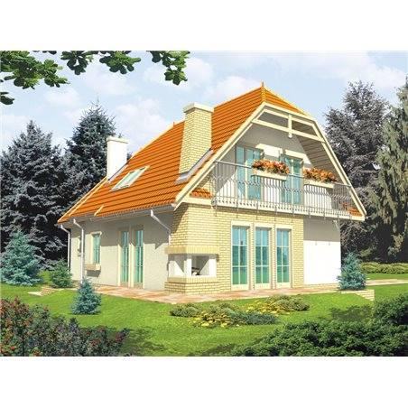 Proiecte Case - Proiect Casă de Vis, cu Mansardă, 187 mp, 6 Camere, 2 Băi, ID 2719