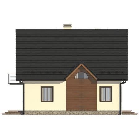 Proiecte Case - Proiect Casă Mică, cu Mansardă, 141 mp, 5 Camere, 2 Băi, ID 2703