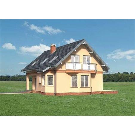 Proiecte Case - Proiect Casă de Lux, cu Mansardă, 200 mp, 5 Camere, 2 Băi, ID 2565