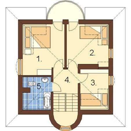 Proiecte Case - Proiect Casă de Lux, cu Mansardă, 200 mp, 5 Camere, 2 Băi, ID 2545