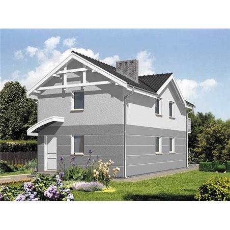 Proiecte Case - Proiect Casă Mică, cu Mansardă, 137 mp, 3 Camere, 2 Băi, ID 2410
