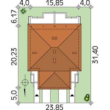 Proiecte Case - Proiect Casă de Lux, cu Etaj, 220 mp, 8 Camere, 6 Băi, ID 7003