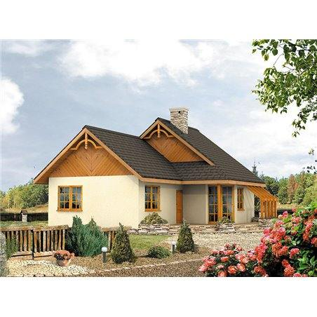 Proiecte Case - Proiect Casă Mică, cu Mansardă, 136 mp, 4 Camere, 1 Băi, ID 2365