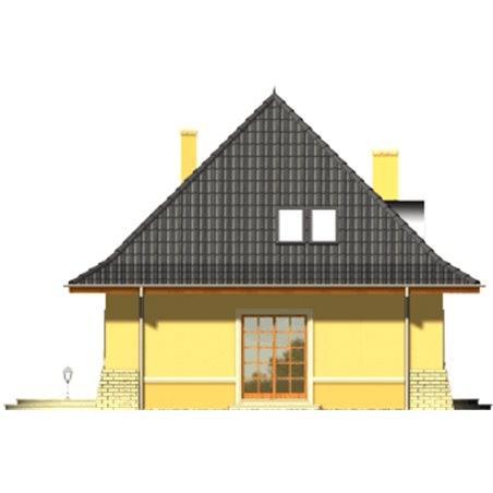 Proiecte Case - Proiect Casă Mică, cu Mansardă, 133 mp, 5 Camere, 2 Băi, ID 2351
