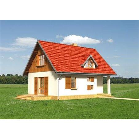 Proiecte Case - Proiect Casă Mică, cu Mansardă, 139 mp, 3 Camere, 2 Băi, ID 2148