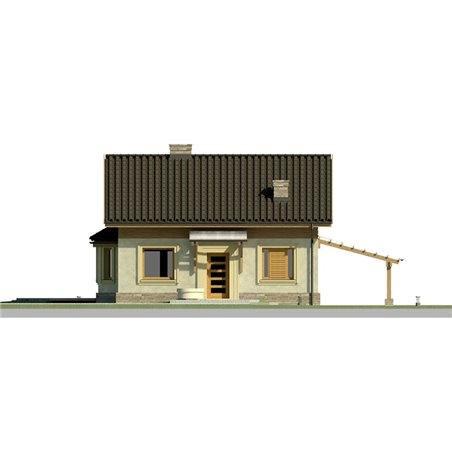 Proiecte Case - Proiect Casă Mică, cu Mansardă, 134 mp, 4 Camere, 2 Băi, ID 2132