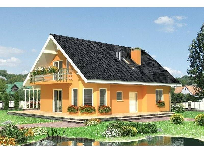Proiecte Case - Proiect Casă de Lux, cu Mansardă, 200 mp, 5 Camere, 2 Băi, ID 2114