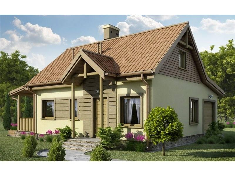 Proiecte Case - Proiect Casă Mică, cu Mansardă, 138 mp, 5 Camere, 1 Băi, ID 2104