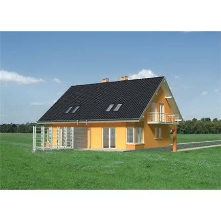 Proiecte Case - Proiect Casă Mică, cu Mansardă, 142 mp, 4 Camere, 2 Băi, ID 2031