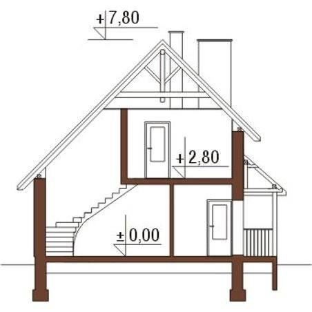 Proiecte Case - Proiect Casă Mică, cu Mansardă, 132 mp, 4 Camere, 2 Băi, ID 5483