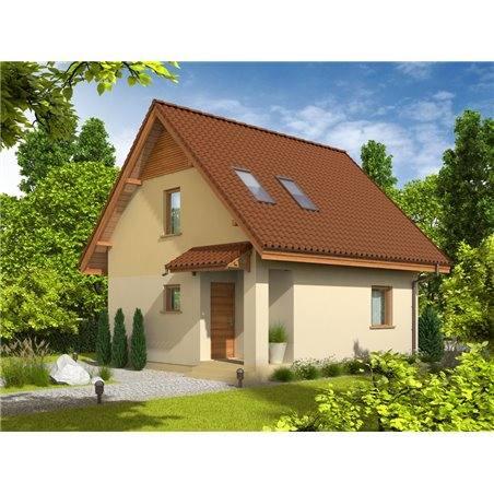 Proiecte Case - Proiect Casă Mică, cu Mansardă, 123 mp, 3 Camere, 2 Băi, ID 5445