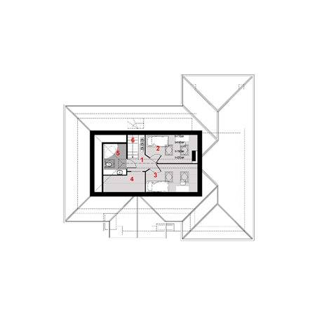 Proiecte Case - Proiect Casă Mică, cu Mansardă, 135 mp, 5 Camere, 2 Băi, ID 5306