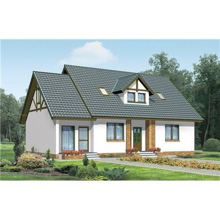 Proiecte Case - Proiect Casă de Vis, cu Mansardă, 193 mp, 6 Camere, 3 Băi, ID 5201