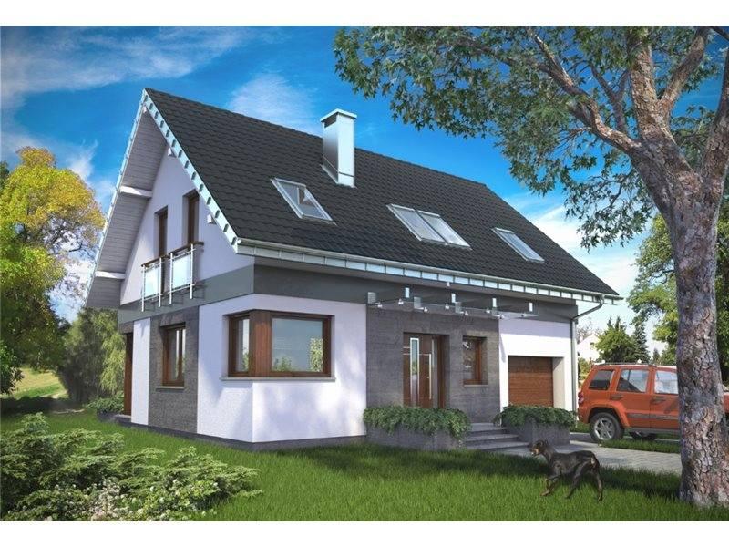 Proiecte Case - Proiect Casă de Vis, cu Mansardă, 167 mp, 4 Camere, 3 Băi, ID 5147