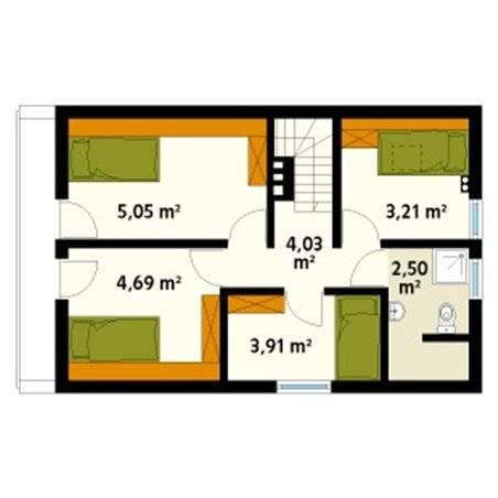 Proiecte Case - Proiect Casă Mică, cu Mansardă, 133 mp, 5 Camere, 2 Băi, ID 5101