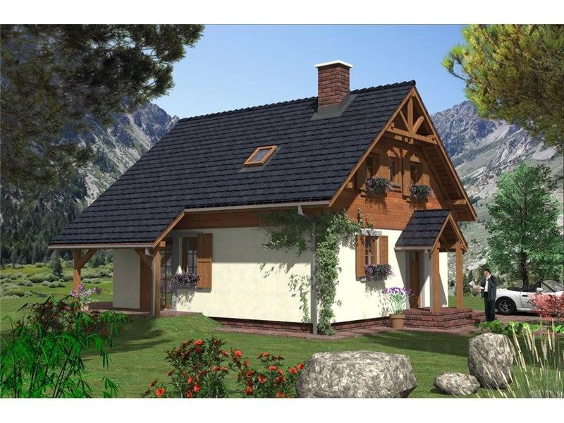 Proiect Casă Mică Cu Mansardă 140 Mp 5 Camere 2 Băi Id 5096