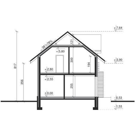 Proiecte Case - Proiect Casă Mică, cu Mansardă, 121 mp, 5 Camere, 2 Băi, ID 4945