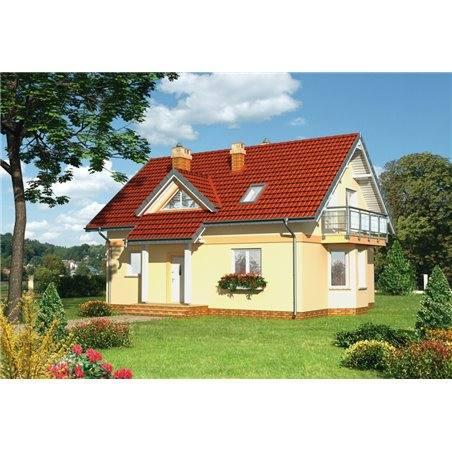Proiecte Case - Proiect Casă de Vis, cu Mansardă, 170 mp, 6 Camere, 2 Băi, ID 4890
