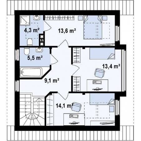 Proiecte Case - Proiect Casă de Vis, cu Mansardă, 167 mp, 4 Camere, 3 Băi, ID 4849