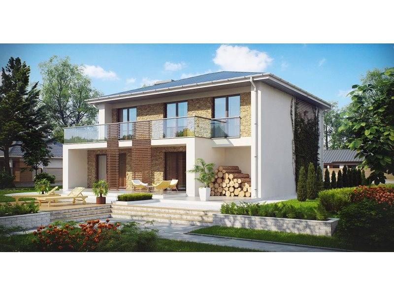 Proiect cas de lux cu etaj 254 mp 5 camere 3 b i id 4826 for Modele de duplex