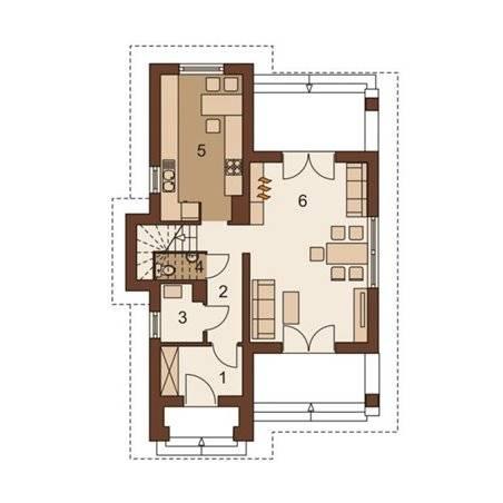 Proiecte Case - Proiect Casă Mică, cu Mansardă, 139 mp, 3 Camere, 2 Băi, ID 4705