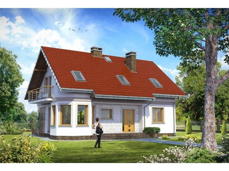 Proiecte Case - Proiect Casă de Vis, cu Mansardă, 189 mp, 6 Camere, 3 Băi, ID 4580