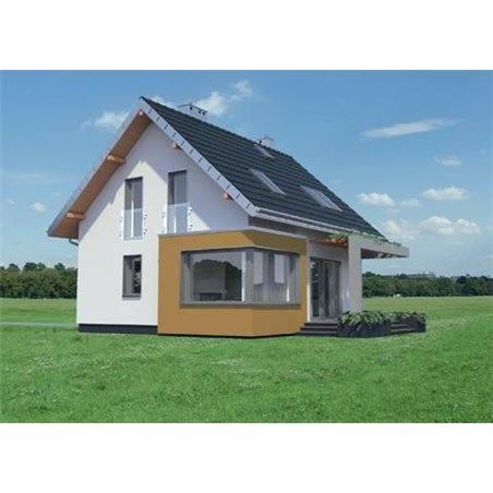Proiecte Case - Proiect Casă Mică, cu Mansardă, 141 mp, 4 Camere, 2 Băi, ID 4565
